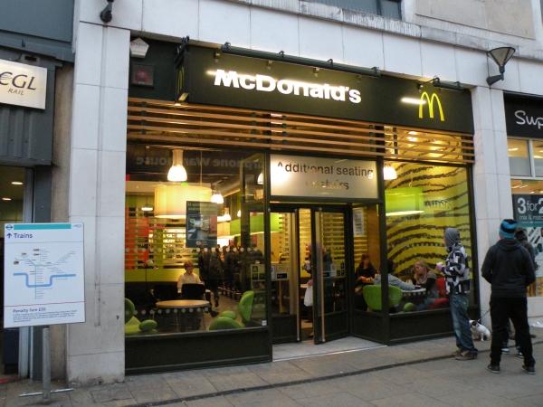 Mcdonalds 2 Crescent Arcade London Se10 9ej Fast
