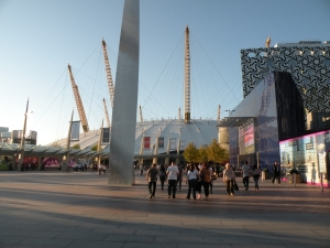 The O2 entertainment complex in Greenwich, London.